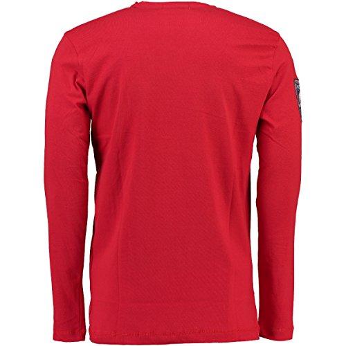 Geographical Norway Herren Longsleeve Langarm Shirt Jantibe Men Rot