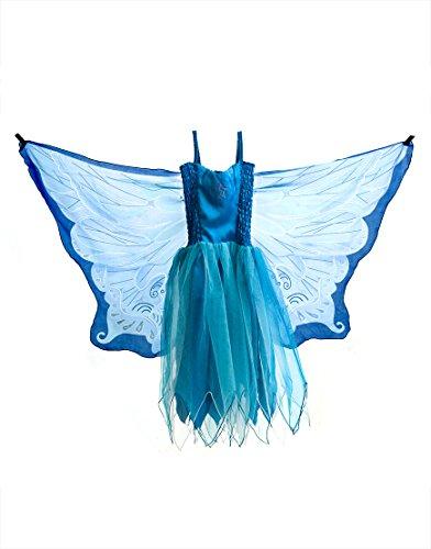 83 Dress, Fly-Away-Kleidchen, Blue Fairy, Elf/Fee blau, M 6-7 YRS ()
