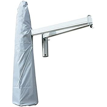 Norfolk Leisure 2m Square Wall Mounted Cantilever Parasol