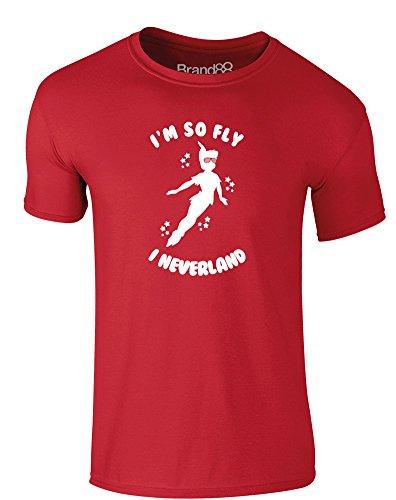 Brand88 - I'm So Fly I Neverland, Erwachsene Gedrucktes T-Shirt Rote/Weiß