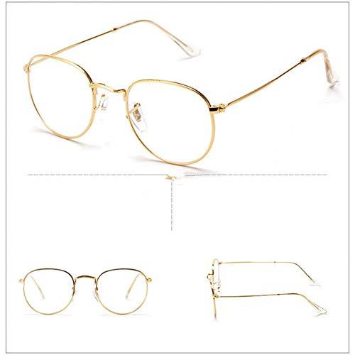 GBST Runde Große Brillengestell Frauen Männer Brillen Optische Brillengestell Vintage Brillen Frames Weibliche Gefälschte Klare Gläser,A3
