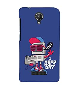 Vizagbeats Comic Computer Back Case Cover for Micromax Canvas Spark q380