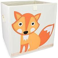 """Spielzeugkiste im """"Reineke Fuchs"""" Design - Beige 34 x 33 x 33 cm - Toy Box Spielzeug Lagerung & Transport - Grinscard preisvergleich bei kinderzimmerdekopreise.eu"""