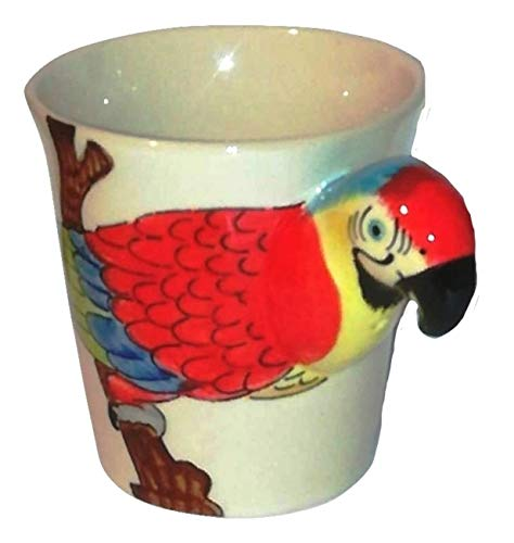 B2see Oiseau/Perroquet Amazone Tasse/mug Perroquet/Animaux 3D/Perroquet Bijoux/Figurine ceramique/Animaux