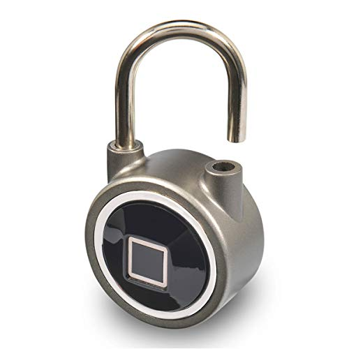 Micalock Biométrique Cadenas intelligente Empreintes Digitales Bluetooth Sans clé Déverrouiller IP65 Imperméable à l'eau Nouvelle Génération (Gris)