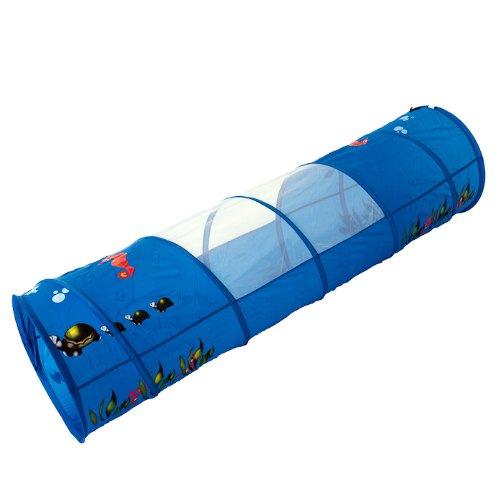 Unterwasserwelt Krabbeltunnel Spieltunnel 170 x 48 cm dunkelblau