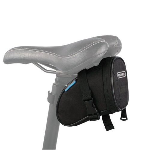 Roswheel Fahrrad Satteltasche Bike Bag Rahmentasche Fahrradtasche Oberrohrtasche Schwarz für Rennrad Mountainbike Handy Wertsachen