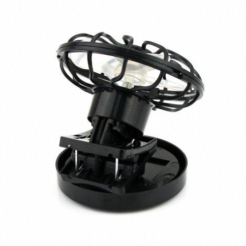 SODIAL(R) Ventilador Energia de Solar con Clip - Negro