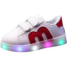 Sannysis Zapatos niña Invierno, Zapatos led niño LED Zapatillas de Colores de Luces Transpirables Luces