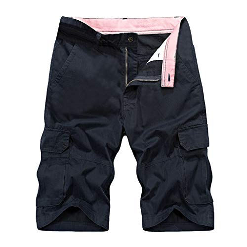 ODJOY-FAN 2019 Heiß Herren Kurze Hose Cargo Shorts Sommer Draußen Übergröße Overall Shorts mit Multi-Taschen (Blau,74 EU) -