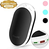 OCOOPA 7800mAh Hand Warmers Rechargeable, USB Portable Power Bank Pocket Hand Warmer, Reusable Heater for Raynaud's Arthritis Sufferers Pain Relief, Great Gifts for Men & Women in Cold Weather Winter
