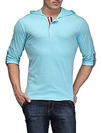 TSX Men's Cotton Blended Hoodie Henley T-shirt