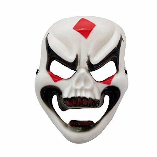 Masken Gesichtsmaske Gesichtsschutz Domino falsche Front Halloween Vollgesicht Horror Maske Geist Skelett Maske Ganze Person Gruselige Maske Smiley-Maske (Maske Smiley Halloween)