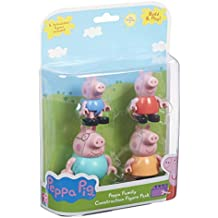 Peppa Pig - Set de 4 minifiguras, la familia de los cerdos, multicolor (6080)