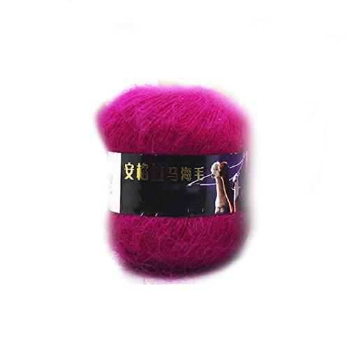 2016 Art und Weise weiche Luxus Mohair Wollstrickgarn Pullover Schal Strickwolle Dark Rose Rot