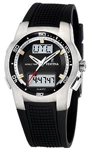 Reloj Festina F6738/C y digital de cuarzo para hombre con correa de caucho, color negro de Festina
