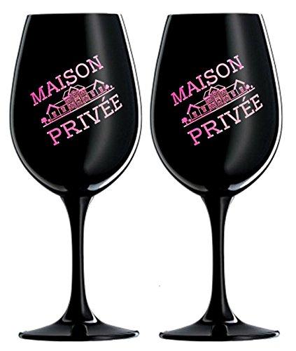 Prime Presents 2er Set Luxus Gläser Schwarz Pink Kristallglas Wein Champagner Gläser XL XXL-Kelche...
