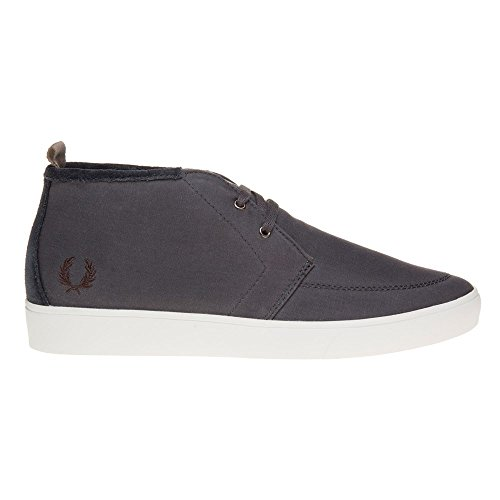 Fred Perry Shields Mid Wax Cotton Homme Baskets Mode Gris Gris