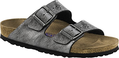 Birkenstock Sandale Arizona SFB Birko-Flor Weichbettung normal Unisex Used Jeans Grey