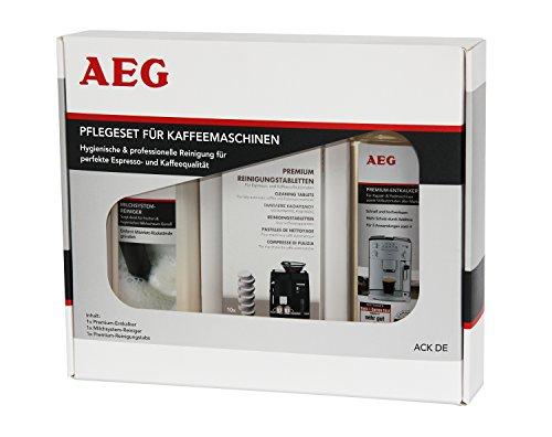 AEG ACK DE Pflegeset für Kaffeemaschinen, Premium-Entkalker, Milchschaumreiniger,...