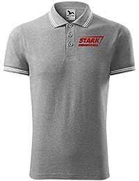 2729fe45 Stark Industries Iron Man Super Hero Embroidered Design Original Logo Polo  Shirt Premium Class Men