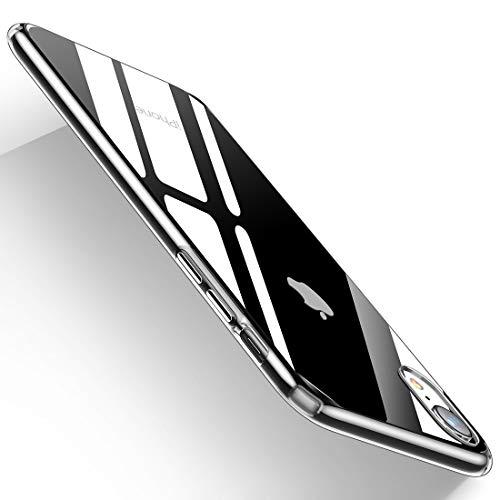 Humixx iPhone XR Hülle Hochwertigem Stoßfest, Anti-Fingerabdruck, Anti-Scratch FeinMatt Federleicht Hülle Bumper Cover Schutz Tasche Schale Hardcase für iPhone XR-Transparent.
