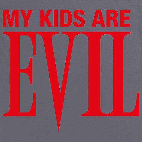 My Kids Are Evil T-shirt, Uomo Antracite
