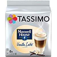 Tassimo Dosette Cappuccino - Maxwell House Vanilla Latte - 40 boissons (Lot de 5x16 TDISCs)