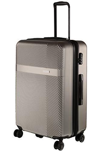 Nasher Miles Fifth Avenue Expander Hard-Sided Polycarbonate Check-in Luggage Grey 24 inch |65cm Trolley Bag
