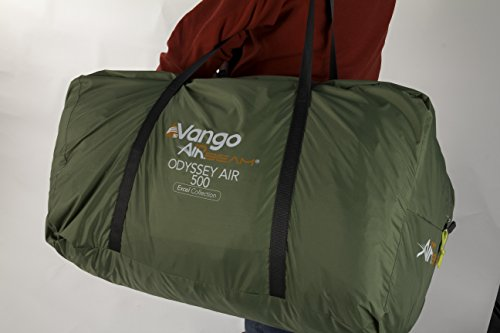 Vango Odyssey Air Beam 500 Inflatable Tunnel Tent, 5 Persons – Epsom Green