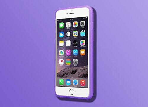iPhone 6, INTRO ® LED clignotant Coque de protection pour Apple iPhone 6–Film de protection d'écran en verre sans manipulation, Crystal for iPhone 6 Plus, iPhone 6 Purple for iPhone 6 Plus