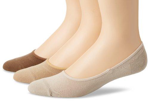 's Solid Canoe 3 Pair Pack Liner Socks, Bone, 10-13/Shoe Size 6-12 ()