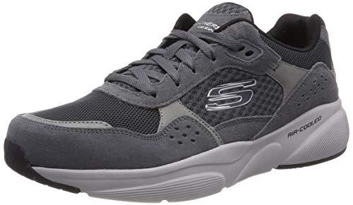 Skechers Herren Meridian- Ostwall Sneaker, Grau (Charcoal Grey Ccgy), 41 EU