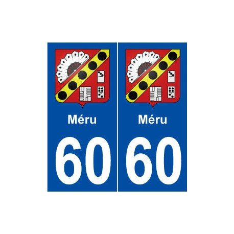 Preisvergleich Produktbild 60Meru Wappen selbstklebend Platte Aufkleber Stadt–abgerundete