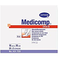 Medicomp drain steril 10x10 cm, 25 x 2 Stück preisvergleich bei billige-tabletten.eu