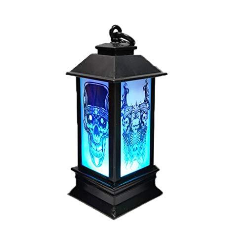 Xuthuly Halloween Atmosphäre dekorative Requisiten Kunststoff leuchtende Nacht Leuchtturm Fashion Classic Charming Home Decor