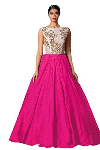 vaankosh fashion women Pink cotton designer bollywood style lehenga /partywear lehenga/heavy embroidered lehenga  available at amazon for Rs.199