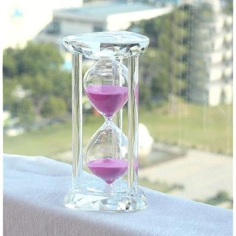rosa minutos reloj de arena contador de tiempo cristal ornamentos creativo joyería para enviar los hombres y mujeres amigos niños cumpleaños regalo letras rosa