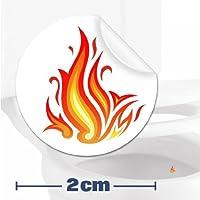 10 x pegatinas con diana de llama ardiente (2cm) Ayuda para que los niños aprender a ir al baño. Divertido entrenamiento para usar el inodoro en el cuarto de baño.