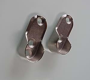 2 x support schrankrohrlager stangenhalter barre porte manteaux argent tube ovale de 30 x 15 mm. Black Bedroom Furniture Sets. Home Design Ideas