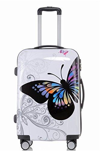 BEIBYE 2060 Polycarbonat Hartschale Koffer Trolley Reisekoffer Butterfly M