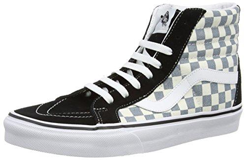 Vans Sk8-Hi Reissue, Sneakers Hautes Mixte Adulte Multicolore (Checkerboard/Black/Citadel)