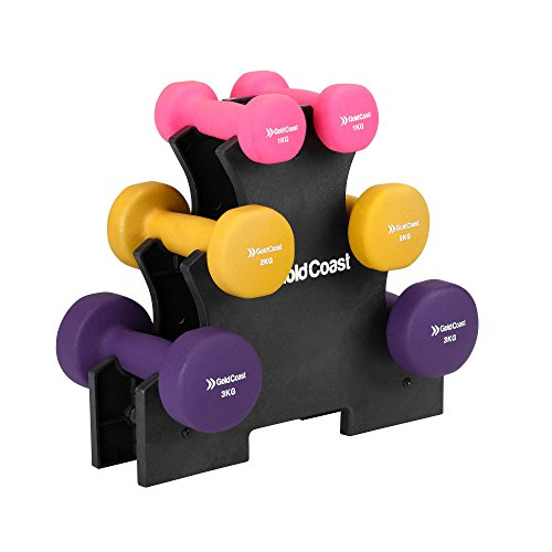 gold-coast-12kg-neoprene-dumbbell-set-with-stand