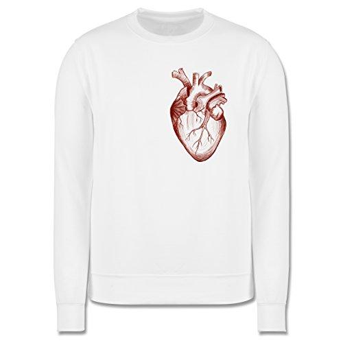 Nerds & Geeks - Herz Anatomie - Herren Premium Pullover Weiß