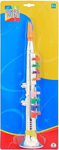 The Toy Company 0068502101 - DO Klarinette 8 Tasten, 40 cm, silber