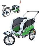 Polironeshop Argo - Remolque y carrito para bicicleta para el transporte de perros, VERDE, Small