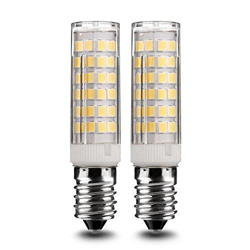 E14 LED Glühlampe, Standard E14 Glühlampe, 7W / 500LM kaltweiß 6000K, 360 ° Strahlwinkel Kühlschranklampe/Nähmaschinenlampe/Wandlampe/Tischleuchte/Kronleuchter [Energieklasse A+] (Auge Schraube Spezifikation)