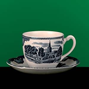 OLD BRITAIN CASTLES BLUE TEA CUP by Johnson Brothers
