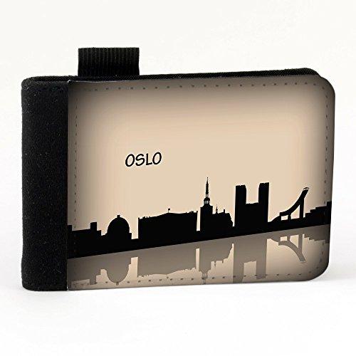 Voyage Oslo, Nero Polyester Piccolo Cartella Congressi block notes Tasca Taccuino con Fronte di Sublimazione e alta qualità Design Colorato.Dimensioni A7-131x93mm.