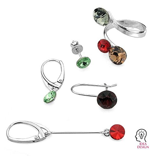 c09d30a59 925 Sterling Silver finding Setting earrings for Swarovski Xirius Chaton -  OKSV 1088 7MM KLA 10